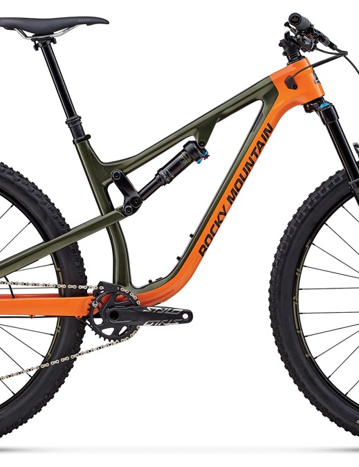 The Instinct Carbon 70 features adjustable geometry and suspension rate through Rocky Ride-9 system