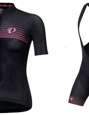 High-end women's gear is included with a PI / Black Speed Mesh jersey and bib shorts