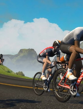 By upgrading your Zwift online avatar's race kit and/or bike, your donation helps a real person