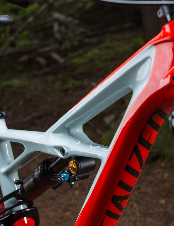 Clean lines, internal cable routing and the Ohlins STX shock help to add appeal to Specialized's latest Enduro offering