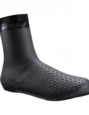 Shimano says the S- Phyre booties 'combine perfectly' with the S-Phyre RC9 kicks and  allow for Boa adjustments through the three layer stretchable Neoprene waterproof cover