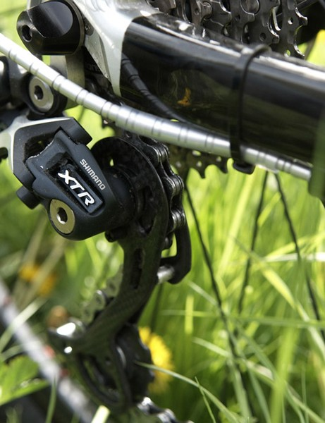 The carbon shadow XTR rear mech completes a stealth setup