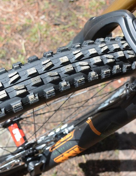 Big knobs, comprised of Maxxis's winning 3C compound, look good