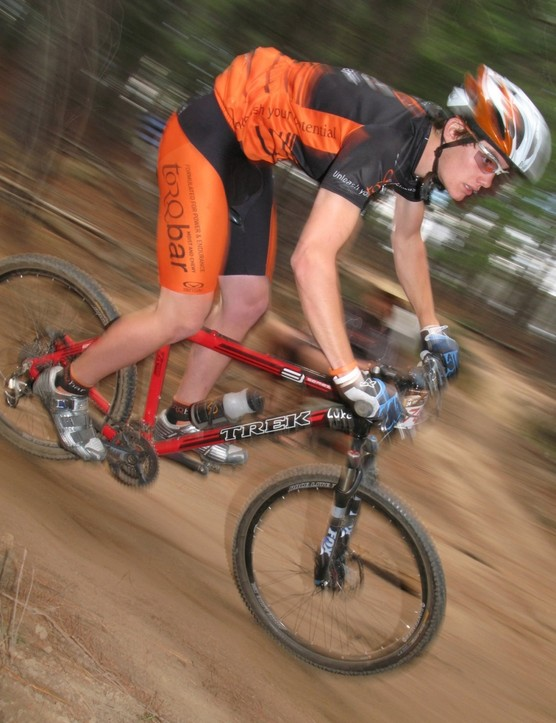 A Torq Australia rider on the way to third in Mixed Sixes