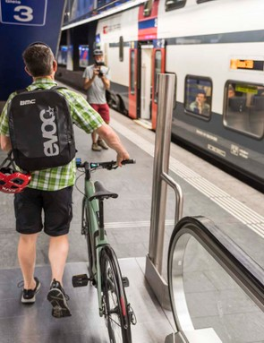 Swiss trains are thankfully enviably reliable and very bike-friendly