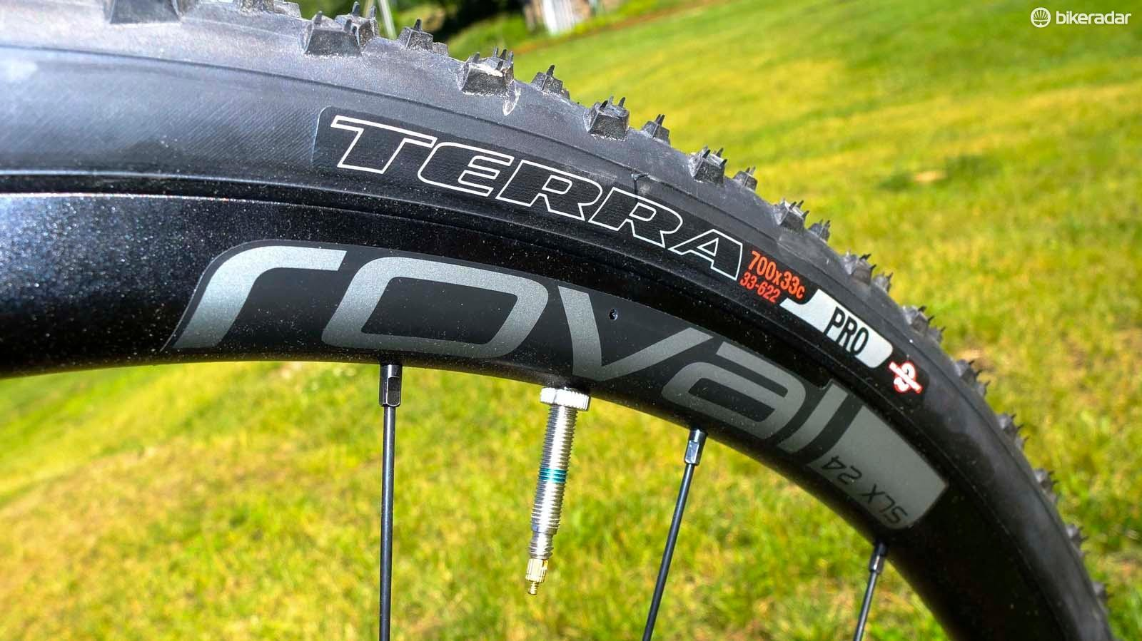 Roval's SLX 24 wheelset with previous Terra Pro mud tyres