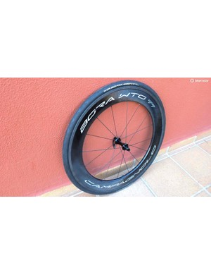 The other new Bora is the WTO 77, designed as a 2-Way-Fit tubeless rim for time trial front wheel duty