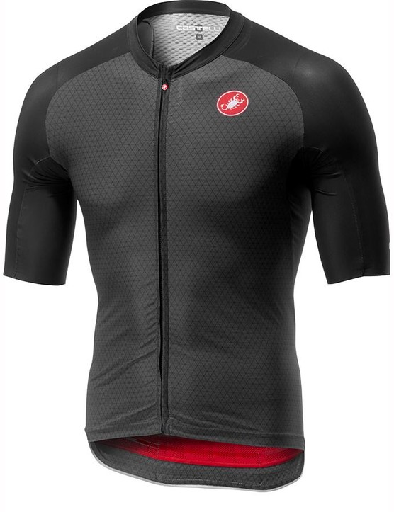 The Castelli Aero Race 6.0 jersey in dark grey