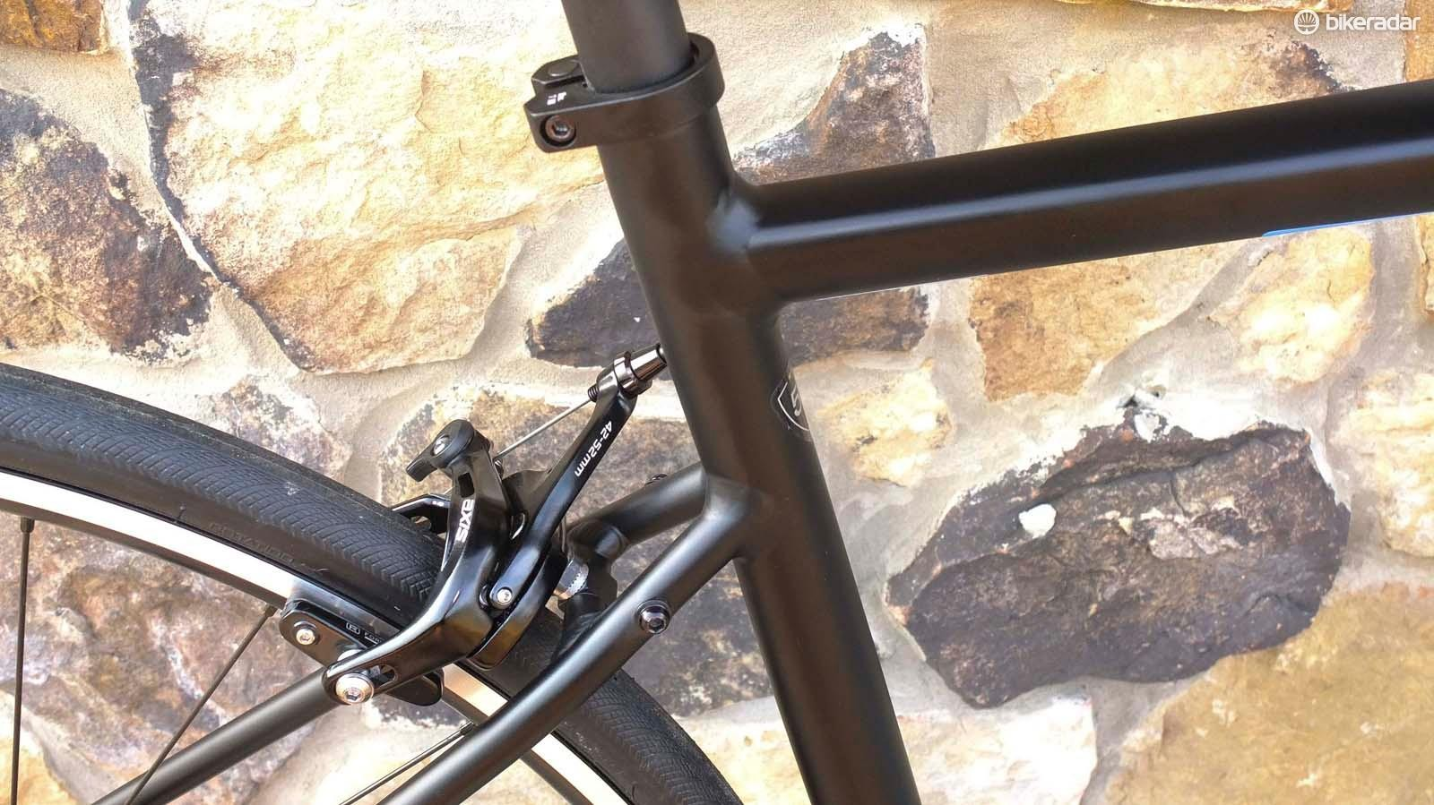 Significantly dropped seatstays feature on the Allez to improve rear compliance