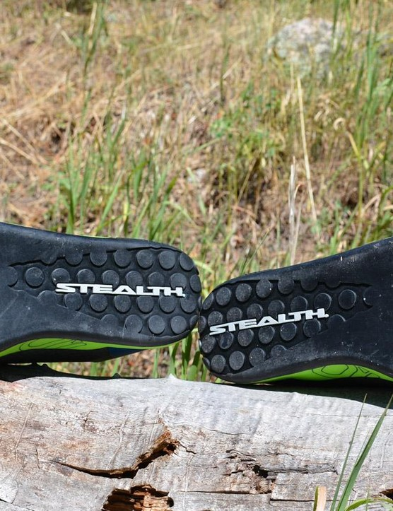 The treadless Contact soles allow for easy pedal placement adjustments