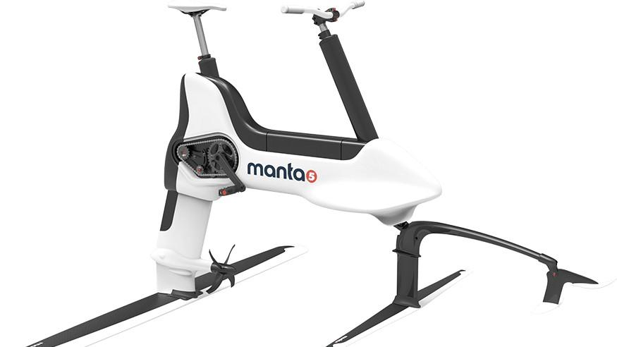 The Manta5 Hydrofoiler XE-1 has a 400 watt electric motor