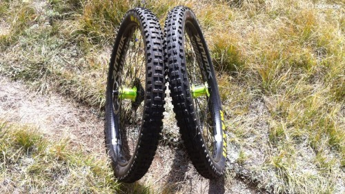 Wide casings, huge knobs, and loads of volume make them look like moto tires