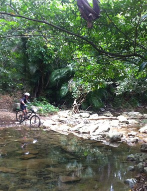 Stream crossings provided a technical and cooling reprieve from the hot dirt road pace lines