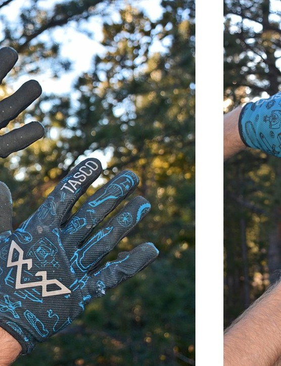 Dirty and well used, Tasco's Double Digit gloves saw a lot of rides this year