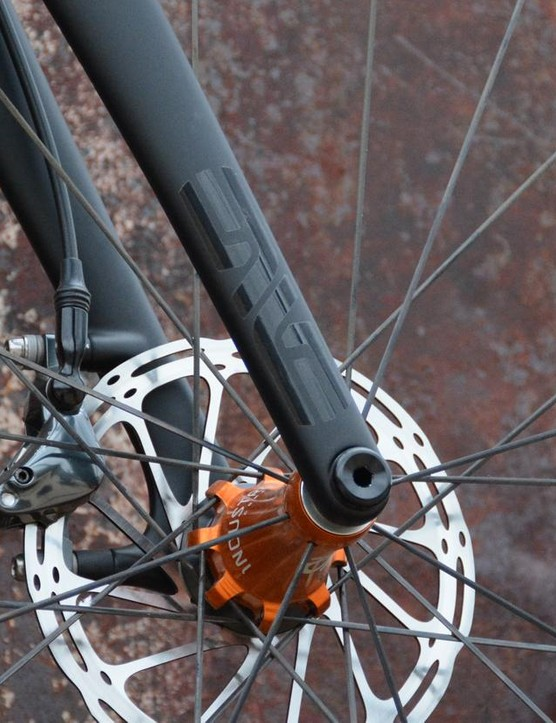 An Enve 'cross fork is suitable partner in looks and performance
