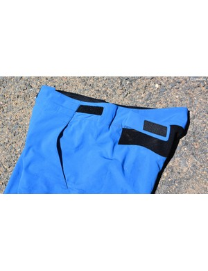 Hook and loop waist adjusters stay consistent and lay flat