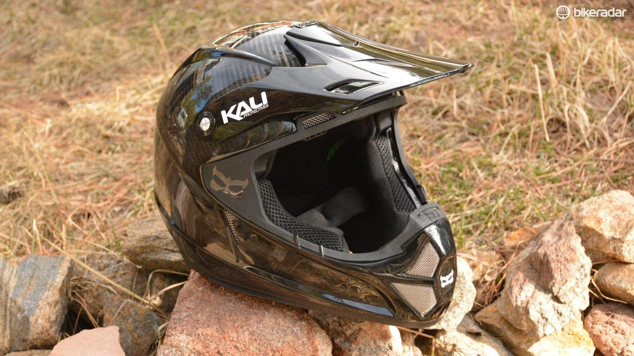 Sending it moto style requires moto-worthy protection, like Kali's Shiva 2.0 Carbon full-face helmet
