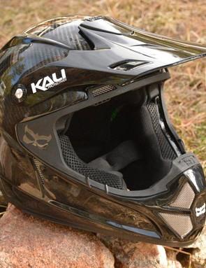 Sending it moto style requires moto-worthy protection, like Kali's Shiva 2.0 Carbon full-face helmet