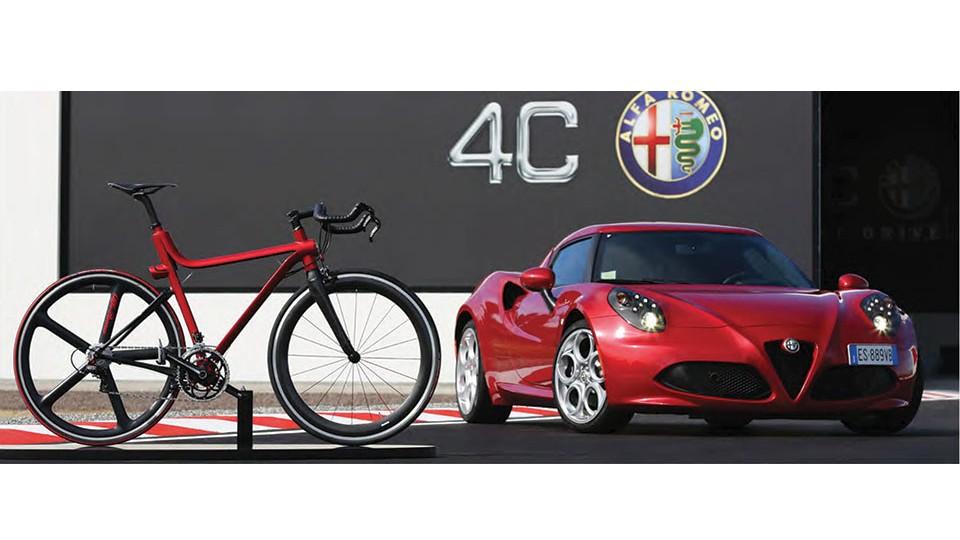 Alfa Romeo's two-wheel spin on their 4C automobile