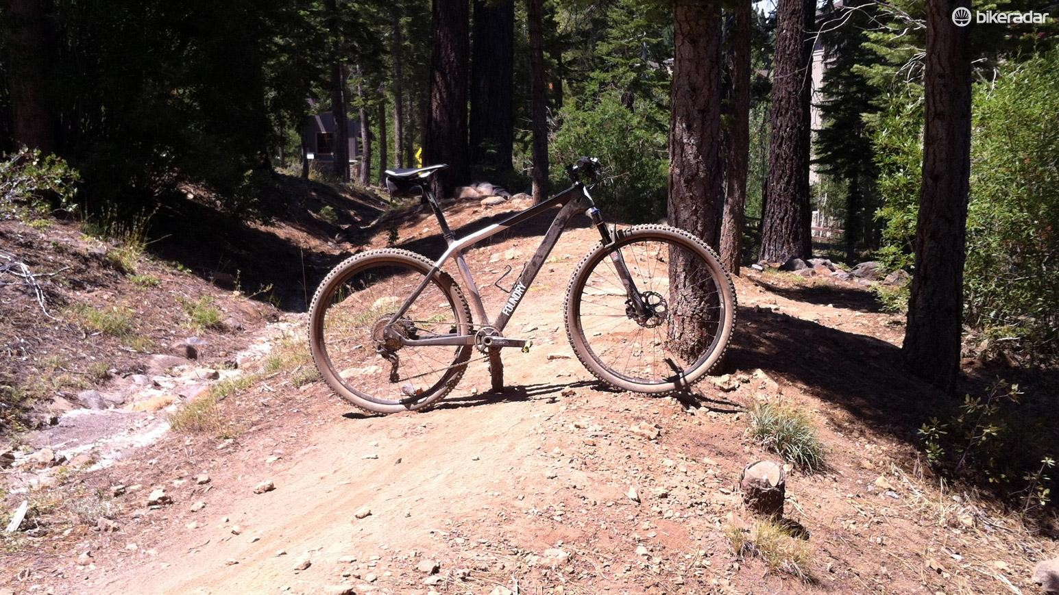 The trails around Truckee, CA were dry, loose and very fast