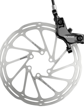 SRAM recommends pairing the Guide T with its CenterLine rotors