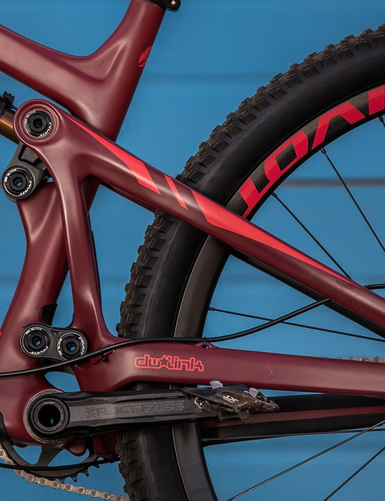 The Trail 429 employs Pivot's version of the DW-link rear suspension