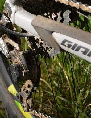 Shimano's workhorse SLX group clicked off every shift perfectly with zero adjustments