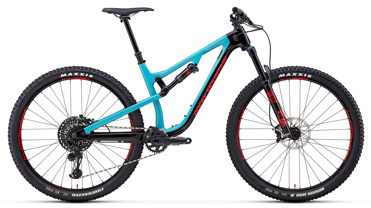 The Instinct Carbon 70 has a Fox 34 fork, Stan's Arch wheels and a SRAM GX Eagle transmission