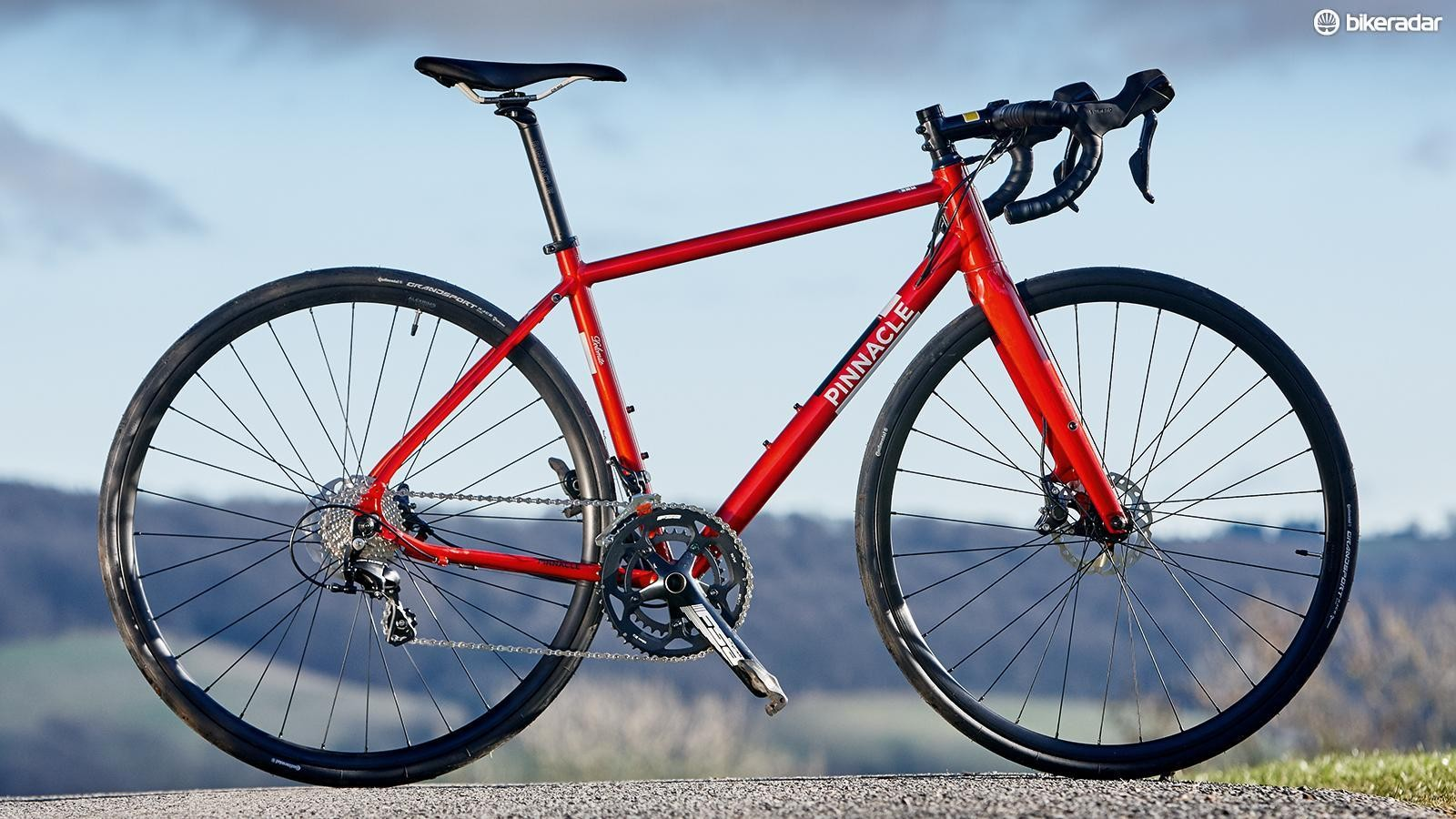 The Pinnacle Dolomite Five is one affordable road bike with proper hydraulic discs