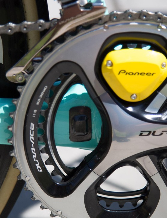 The Pioneer power meters require a magnet on both sides