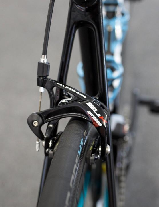 Valgren's bike is equipped with FSA's SLK caliper brakes