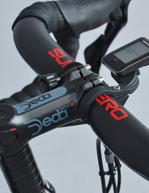 Check out the stack underneath the full Deda Elementi cockpit