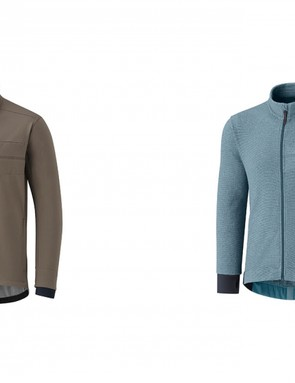 The Transit softshell (right) and Transit Fleece are pretty casual looking