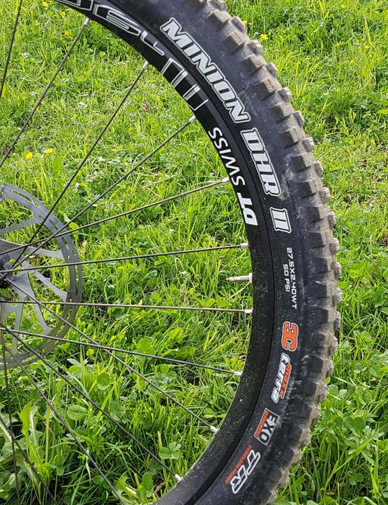 The Merida has quality rubber