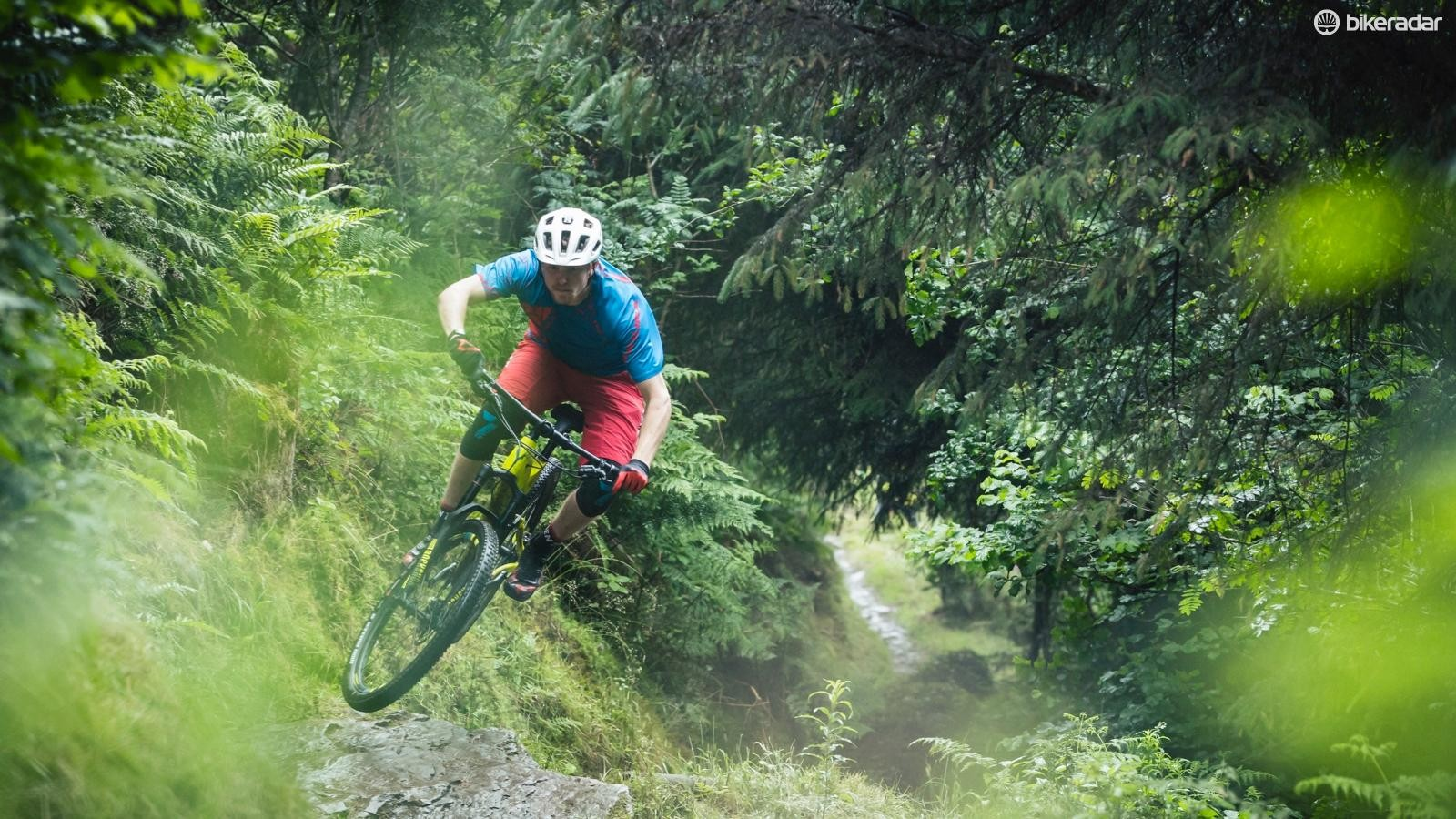 The fast-rolling tyres, low weight and efficient feel were a blast at Afan, though I'd like a higher bar for steeper terrain
