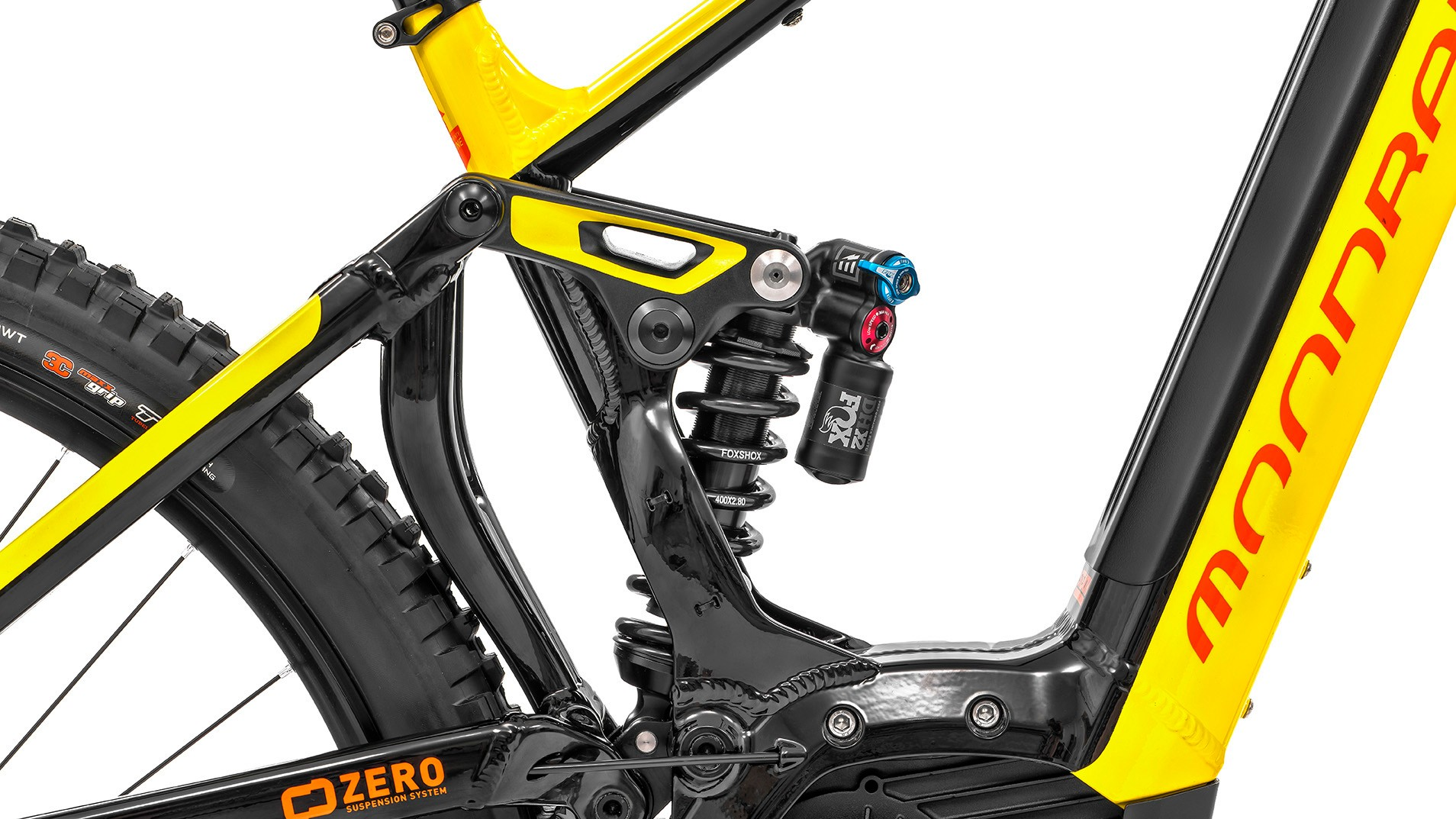 Zero Suspension: a dual link design where the shock floats between the two suspension links and is compressed from both ends