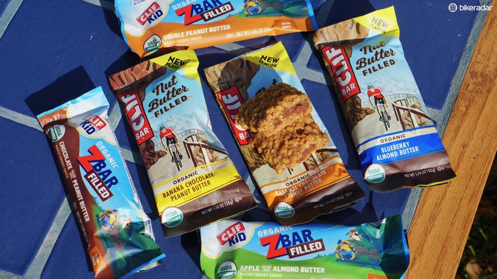 Clif bars, packed full of nutty, buttery goodness