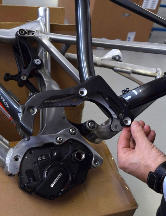 Prototype and final version of Wilier's mounting plate