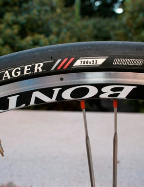 Keeping the rubber side down, Bontrager style.