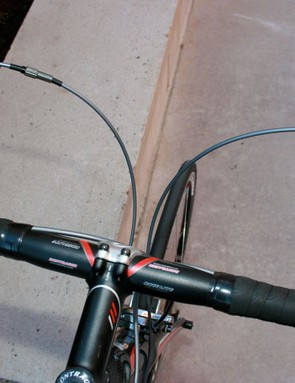 Wide and comfortable handlebars, with a nice ergo bend.