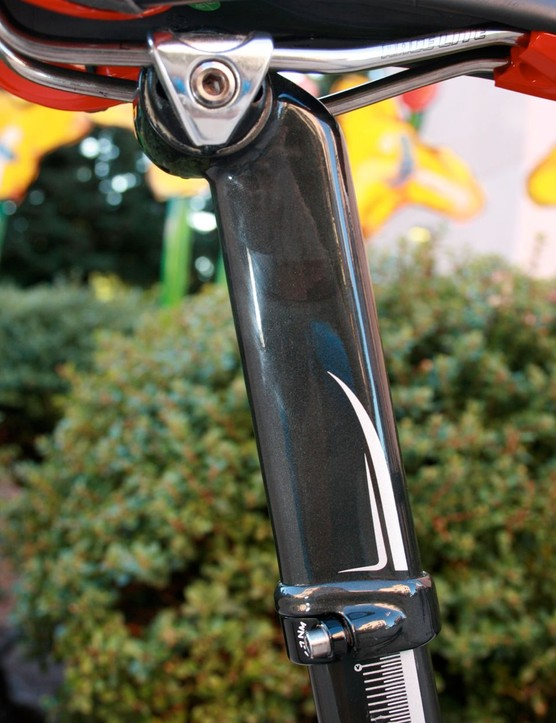 Trek's carbon seatcap.
