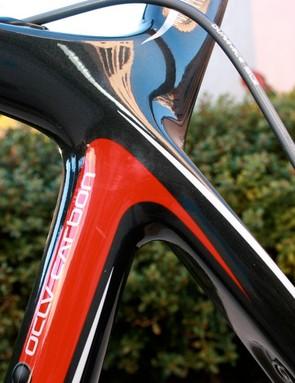 Trek uses a sculpted carbon design on its Madone 5.5 frame.
