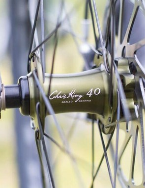 The olive King hubs feature 40th anniversary branding