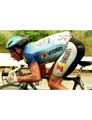 Greg LeMond during the 1992 Tour, where he was 7th