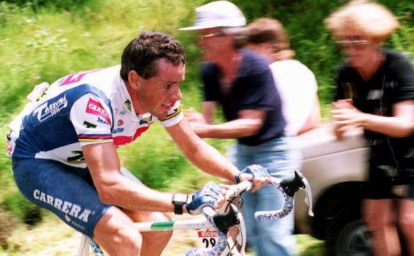 Roche seen during the 1992 Tour de France