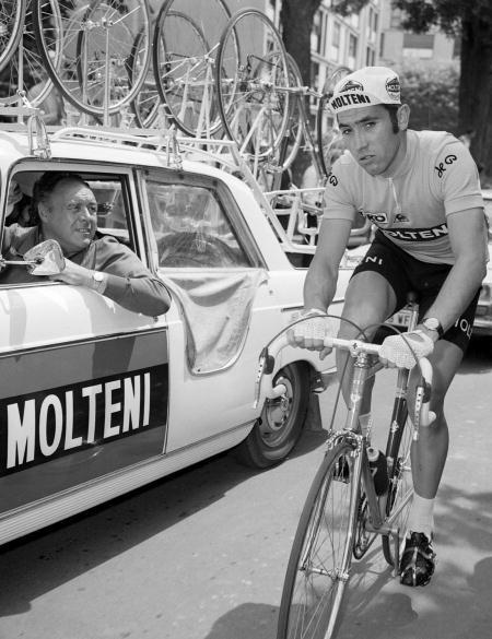 Belgian Eddy Merckx leading the 1971 Tour de France.