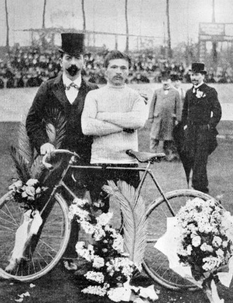 Maurice Garin, P-R winner in 1898.