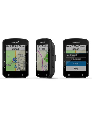 GroupTrack (left) and rider-to-rider messaging (right) require that your riding buddies have newer Edge computers, tethered smartphones and paired Garmin Connect accounts. Navigation, though, is plug and play