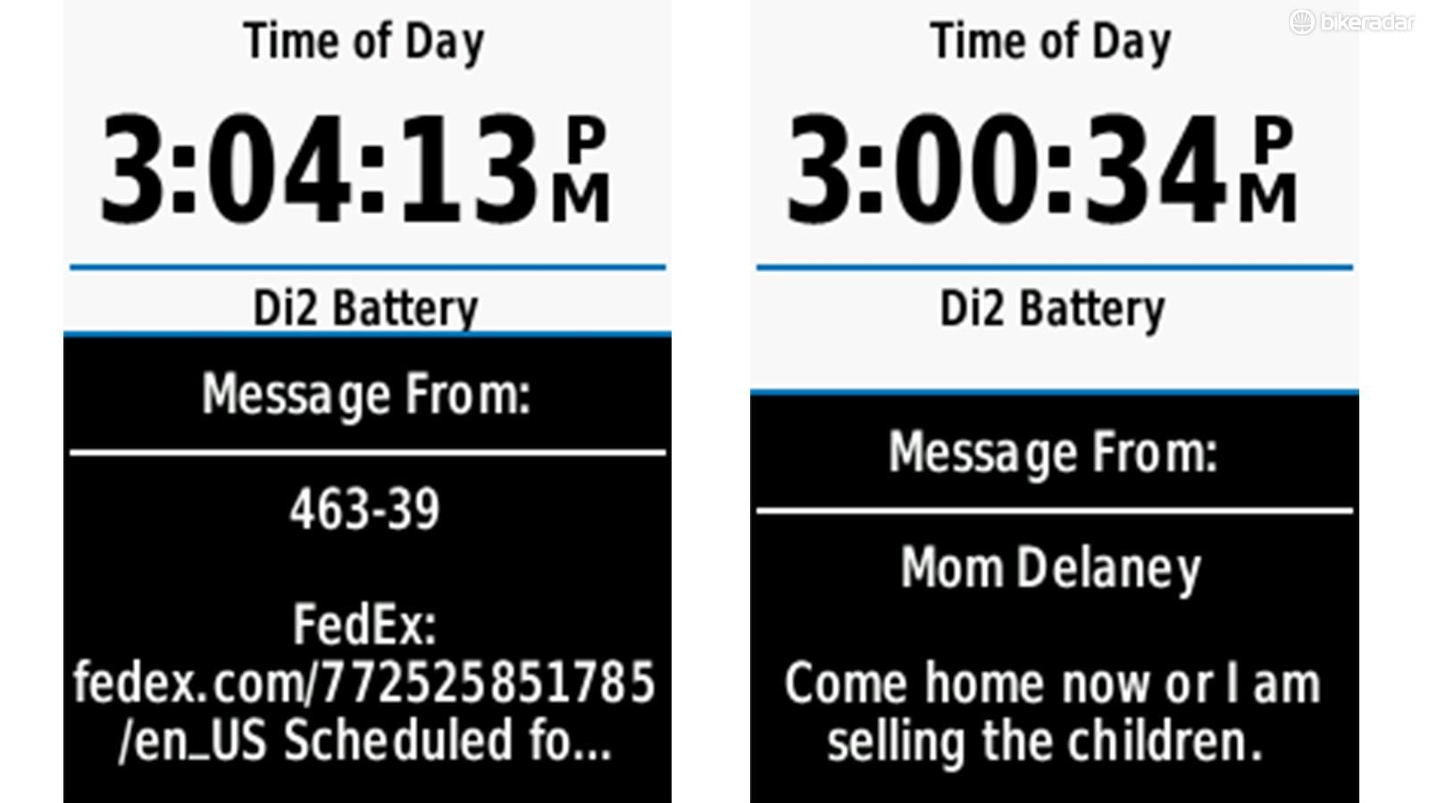 Some messages are more important than others. Incoming call and text notifications help you determine when to pull the phone out of the pocket and when to just keep riding