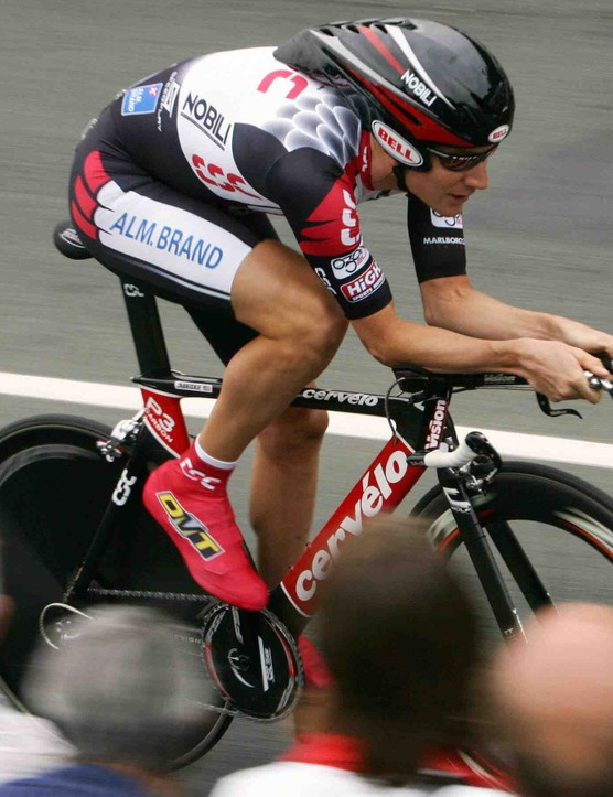 Zabriskie on his way into yellow on July 2, 2005.